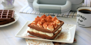 Vafe Tiramisu la Waffle Maker DuraCeramic by Laura's Sweets